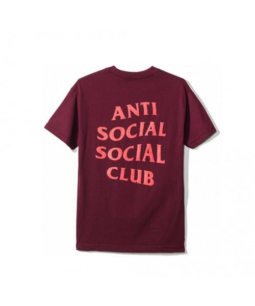 Anti Social Social Club ASSC Lost Feelies Tee Maroon