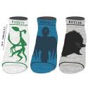 Bioworld Fantastic Beasts 3pack Ankle Jnr Sock set