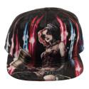 Bioworld Harley Quinn Sublimated Velvet Snapback