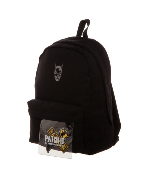 Bioworld Batman Canvas Backpack with Patch Kit