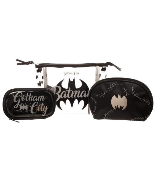 Bioworld Batman Cosmetic Bag Set 3pcs