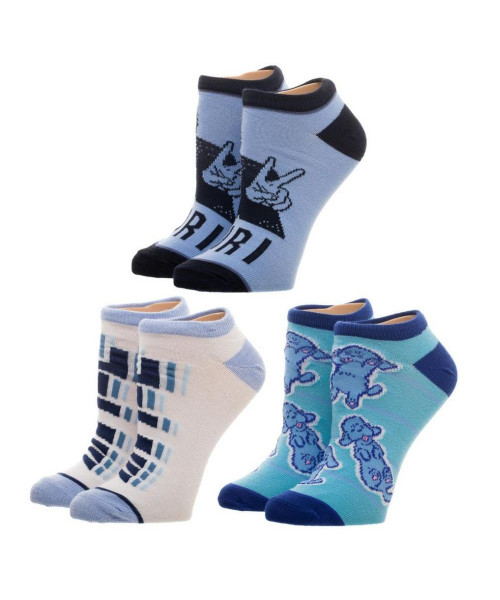 Bioworld Crunchyroll Yuri 3pk Ankle Socks